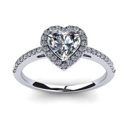 0.70 Carat Round Real Diamond Engagement Rings 14k Solid White Gold Size 5 6 7 8