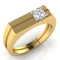 Gold Engagement Ring 14k Yellow Gold 0.40ct Diamond Mens Band Size 11 562351235