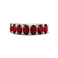 Christmas Sale 1.75 Ct Real Ruby Gemstone Band Solid 950 Platinum Ring Size 6 7