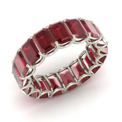 Christmas Sale 3.40 Ct Real Ruby Gemstone Band Solid 950 Platinum Ring Size 6 7