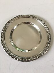 Andnbspsterling Silver Bread Plate 6 1/2 108 Grams
