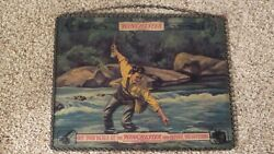 Scarce 1920s Winchester Stores Fishing Tackle Reverse Painted Glass Dealer Sign
