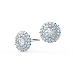 1.88 Ct Round Real Diamond Earring Stud 14k Solid White Gold Beautiful Studs