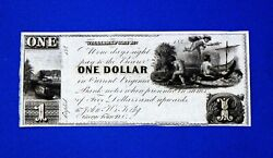 1840and039s 1 In Current Virginia Bank Notes Williams Port Md. Georgetown D.c.beauty