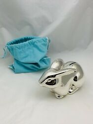 Authentic And Co. Sterling Silver Large Bunny Coin Bank