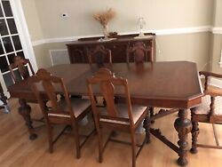 Hellam 1900andrsquos Antique Dining Set Side Board And China Cabinetandnbsp