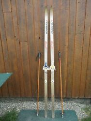 Great Ready To Use Cross Country 79 Long Karhu 205 Cm Skis + Poles