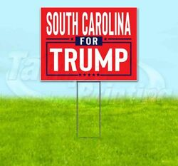 South Carolina For Trump 18x24 Yard Sign With Stake Corrugated Bandit 2020