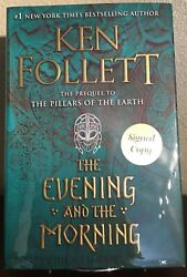 THE EVENING AND THE MORNING by Ken Follett 2020 HC DJ **SIGNED** 1st 1st NEW $85.00