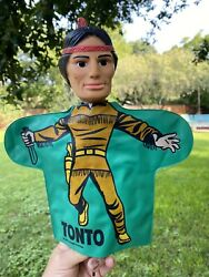 1966 Tonto Vintage Lone Ranger Ideal Toy Company Vinyl Hand Puppet