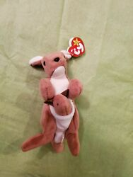 Ty Beanie Baby Pouch The Kangaroo Style 4161 - Collectible Andndash Errors - Rareandnbsp