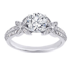 Real 1.10 Ct Round Diamond Engagement Ring 14k Solid White Gold Band Size 7 8 9