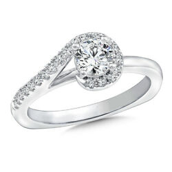 Solid 18k White Gold Wedding Band 1.00 Ct Real Diamond Engagement Ring Size M N