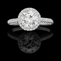 14k Solid White Gold Band Real 1.30 Ct Round Diamond Engagement Ring Size 6 4 9