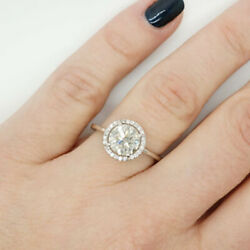 14k Solid White Gold Band Real 1.10 Ct Diamond Wedding Solitaire Ring Size 9 8