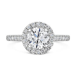 Solid 14k White Gold Solitaire Ring 0.80 Ct Real Diamond Engagement Band 6 5 8 7