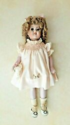 Hand Made Shirley Temple Look Alike Porcelain Doll Vintage