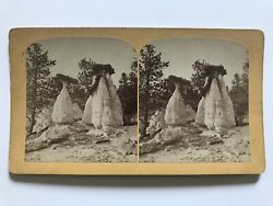 Rare Antique Monument Park Colorado Dutch Wedding Old West Stereoview SV Photo