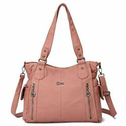 Women Hobo Purses and Handbags Washed PU leather Satchel Tote Shoulder Purse Lar $63.27