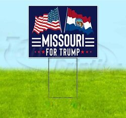 Missouri For Trump 18x24 Yard Sign With Stake Corrugated Bandit 2020