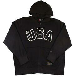 Vintage Polo Big Usa Embroidered Zip Up Hoodie - L