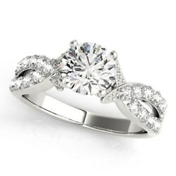 0.75 Ct Real Diamond Engagement Ring In 950 Platinum Rings Size 5 6 7 8
