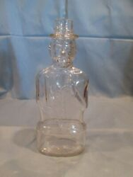Vintage Abraham Lincoln 1950's Bank Bottle Lincoln Foods Lawrence Mass