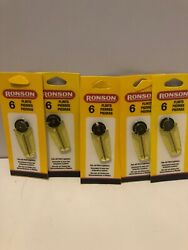 Lot Of 5 - 6-in Each Pack Genuine Ronson Replacement Flints