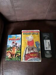 Stuart Little Vhs 2000 The Wild The Land Before Time Iii Lot Of 3