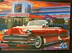 3 Vintage American Car Posters, Free International Shipping