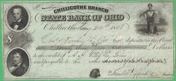 1848 Chillicothe Branch State Bank Of Ohio, Oh Certificate Of Deposit