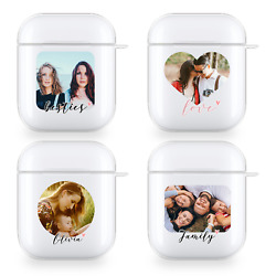 PERSONALISED PHOTO AIRPODS CASE CUSTOM COVER PICTURE FOR APPLE HEADPHONES GIFT GBP 5.99