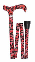 Classic Folding Cane British Wildflowers With Poppies