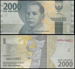 Banknote - 2016-18 Indonesia 2000 Rupiah P155 Unc Mohammad Hoesni Thamrinf