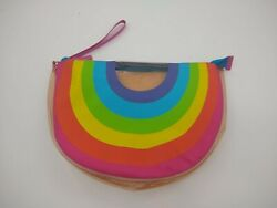 Swim Beach Pouch Bag Zipper Vented Dry Stay Real Rainbow Travel $16.98