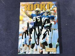 G4-70 Football Card - Marco Coleman Dolphins Rookie - Autographed - 2000 Sky Box