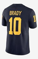 Sold Out Rare--tom Brady Limited Michigan College Jersey Jordan L Embroidered