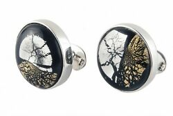 Murano Glass Special Edition Sterling Silver Cufflinks And Studs By Alan K. Thauandreg
