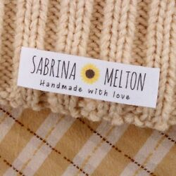 Custom Fabric Tags Garment Labels Personalized Washable Clothing Vintage Flower