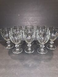 8 Vintage Libbey Gibraltar Duratuff Clear Water Goblets Glasses 6 3/4 Andldquo 11.5 Oz
