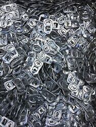 300 Silver Red Bull Aluminum Can Tabs Assorted Pull Tabs Pop Tops Soda
