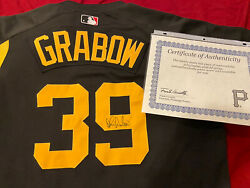 2006 John Grabow Pittsburgh Pirates Game Worn Used Signed Bp Jersey Team Loa