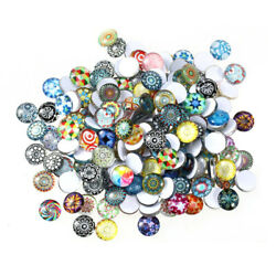 200 Pcs Glass Mosaic Tiles Mixed Color Set 12mm Round For Jewelry Diy Crafts New