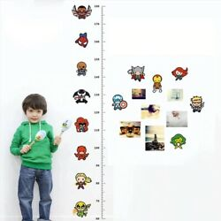Avengers Height Measure Chart Wall Stickers For Kids Rooms Decals Art Children