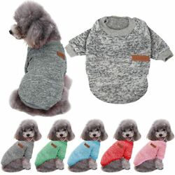 Warm Clothes for Pet SWEATER Chihuahua Yorkie Small Dog Coat Jacket Fleece 2021