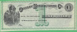 188x Oglesby Manufacturing Co., Ga 1 Remainder Note Rare