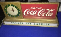 Rare Vintage Original Clock Sign Drink Coca Cola Soda Not Pepsi 7 Up Nehi Moxie