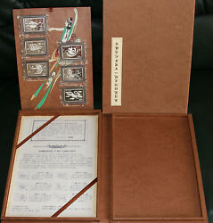 2000 China Discovery Of Library Cave In Dunhuang Set 6 X 2 Oz Silver Coa Box