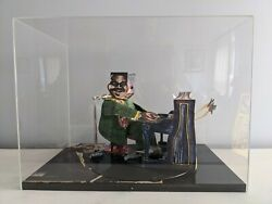 Red Grooms B. 1937 Signed Fats Domino 3d Paper Sculpture In Plexiglass Case