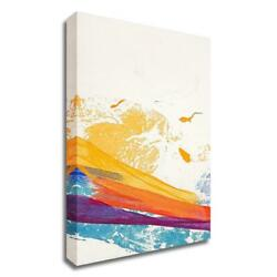 27 X 13 Waves Of Washi No. 2 By Jan Sullivan Fowler Print On Canvas